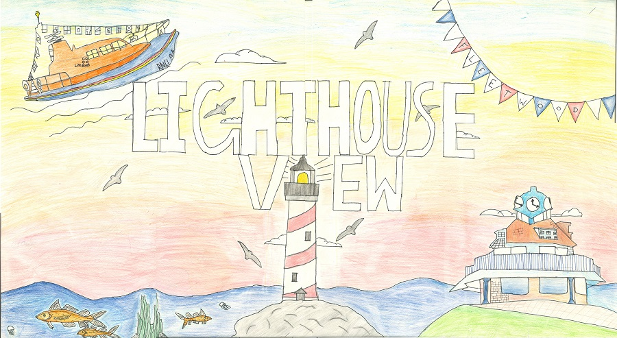 Lighthouse View image drawn by school children