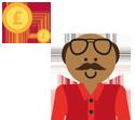 man thinking about money illustration