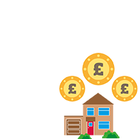 house and money illustration