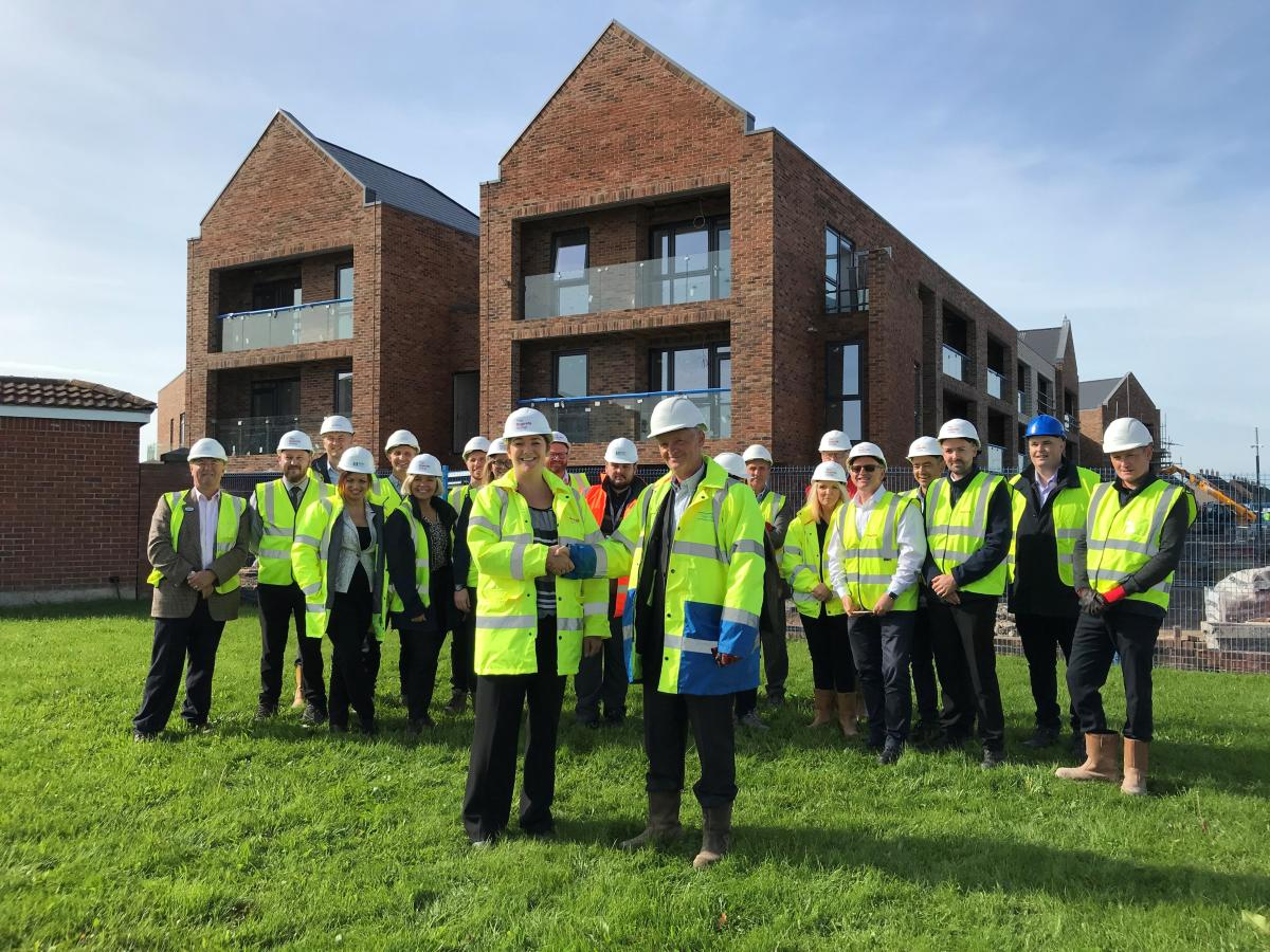 Topping out ceremony at Lighthouse View