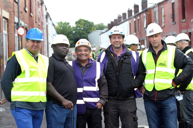 M&Y staff on site at the DIY SOS in Manchester